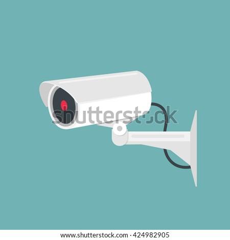 Video surveillance, camera cctv. Vector illustration - stock vector