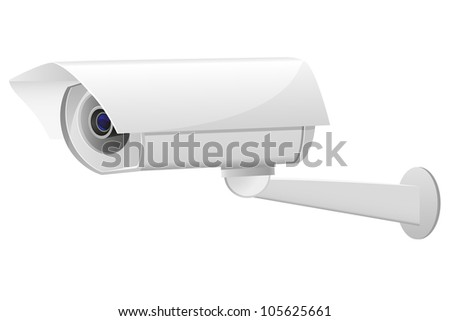 video surveillance camera vector illustration isolated on white background