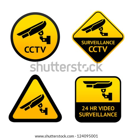 Video surveillance, set symbols. Vector illustration