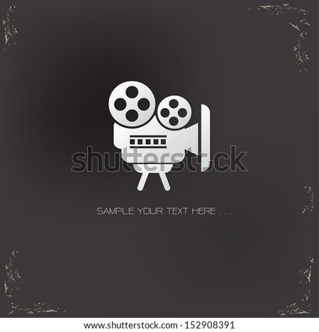 Video symbol on grunge background,vector - stock vector