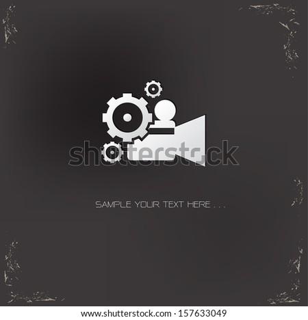 Video symbol,vector - stock vector