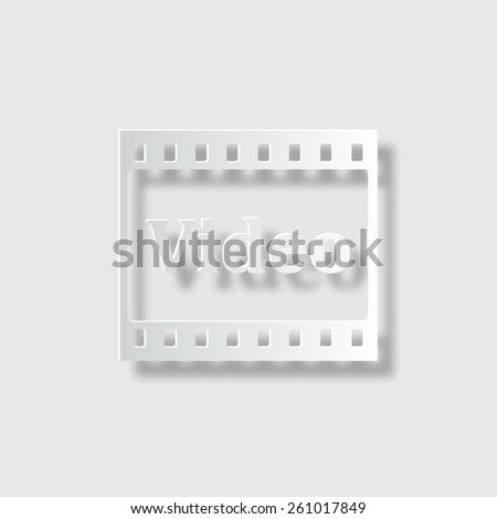 video  - vector icon with shadow - stock vector
