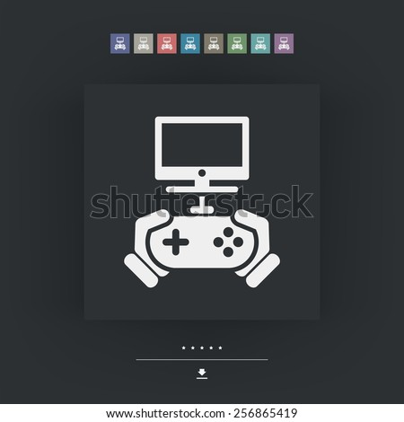 Videogame icon - stock vector