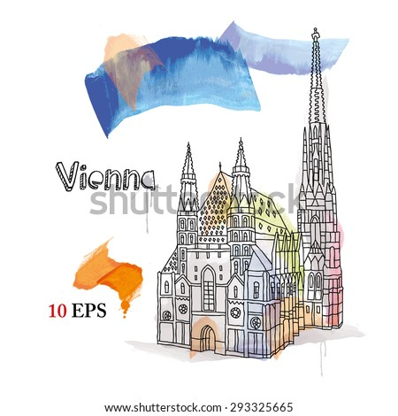 Vienna. - stock vector