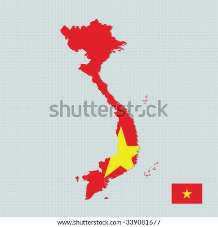 Vietnam Map Flag Stock Vector Shutterstock - Vietnam map