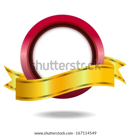 vignette with a brilliant ribbon, background for a design,vector illustration - stock vector