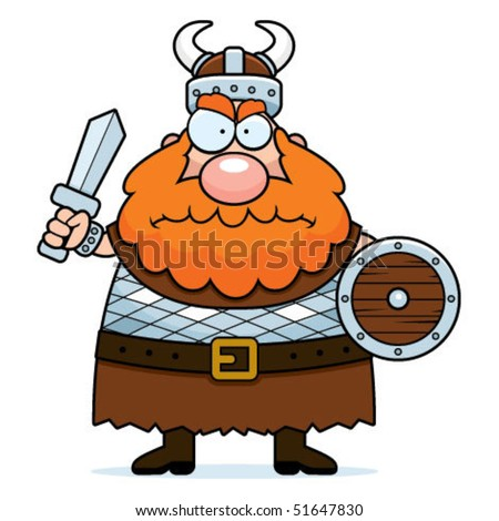 Viking Angry - stock vector
