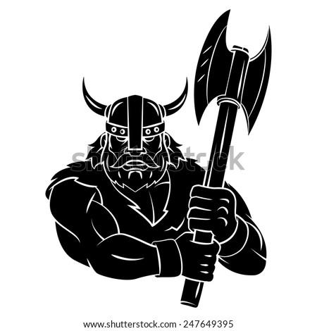 Viking Axe tattoo - stock vector