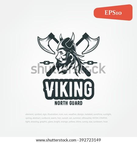 Viking illustration. team Logo. Sport - stock vector