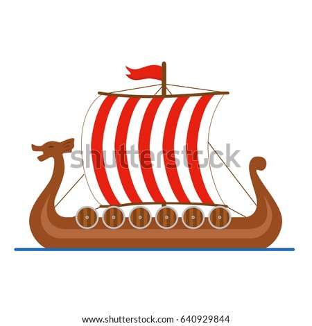 viking ship drakkar logo colored isolated stock photo photo vector rh shutterstock com  viking ship logo black background