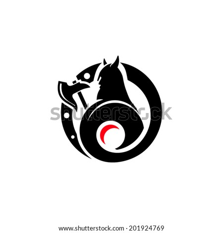 Viking Valhalla Branding Identity Corporate vector logo design template Isolated on a white background - stock vector