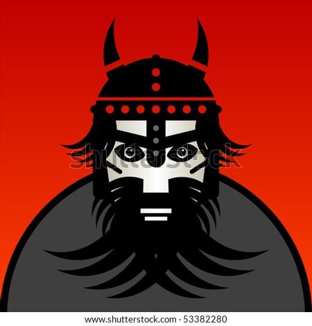 Viking warrior, vector illustration - stock vector