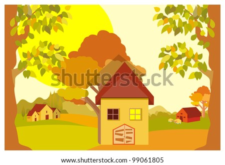 village - stock vector