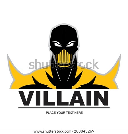 villain, masked villain, poison man.  - stock vector