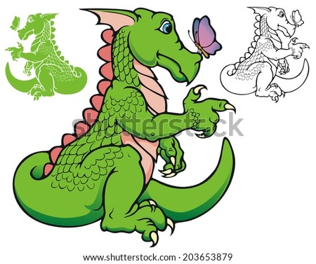 Vincent, the Friendly Dragon  - stock vector