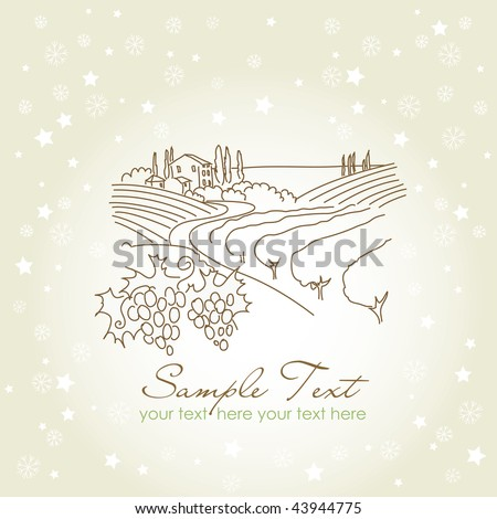 vineyard - stock vector
