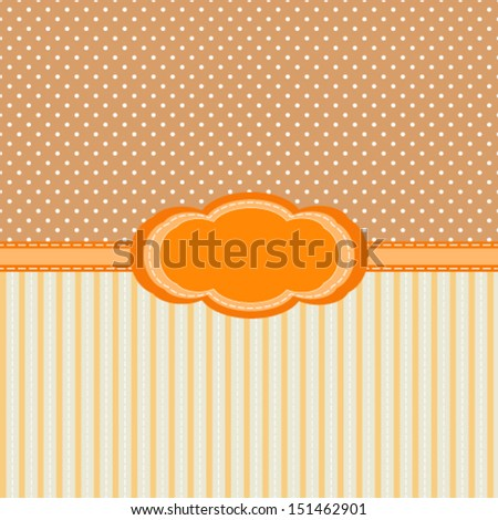 vintage abstract background with stripes and polka dots, for invitation or greeting card. Vector, EPS 8  - stock vector