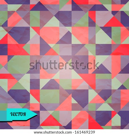Vintage abstract geometric background - vector