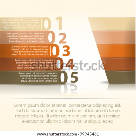 vintage abstract number line background - stock vector