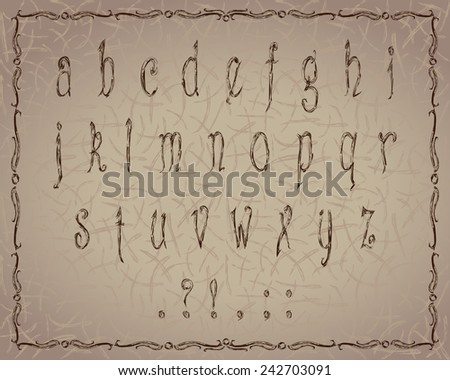 Vintage alphabet. EPS10 vector file organized in layers for easy editing.  - stock vector