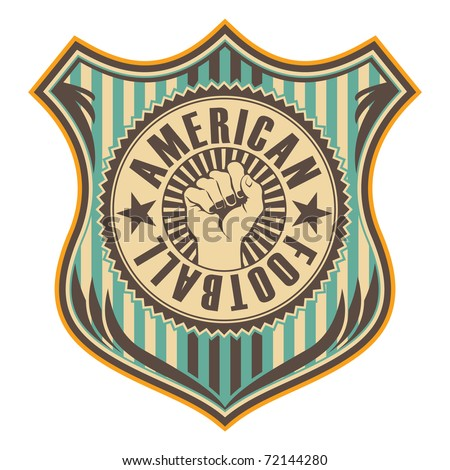 Vintage american football crest. Vector illustration.
