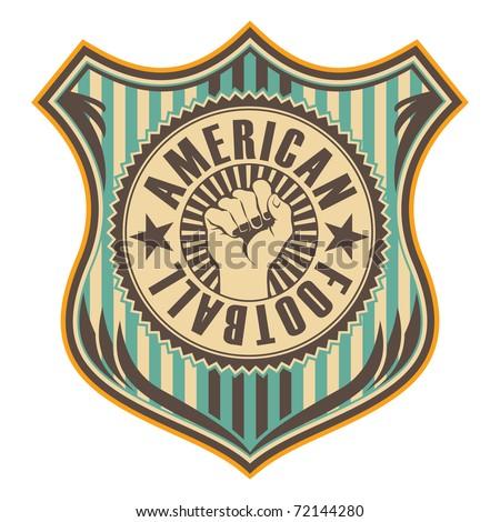 Vintage american football crest. Vector illustration. - stock vector