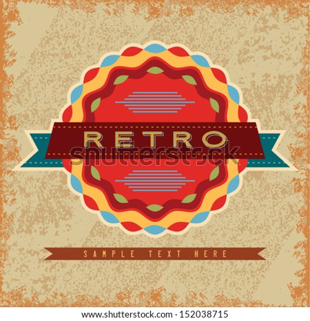 Vintage And Retro Design Elements - stock vector