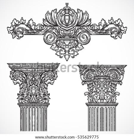 Baroque ilustraciones im genes y vectores en stock for Baroque design elements