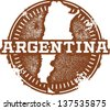 Vintage Argentina South America Stamp - stock vector