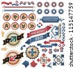 Vintage arrows - icons, symbols and design elements collection - stock vector