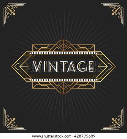 Art deco style invitation envelope stock vector 215638111 for Deco style retro