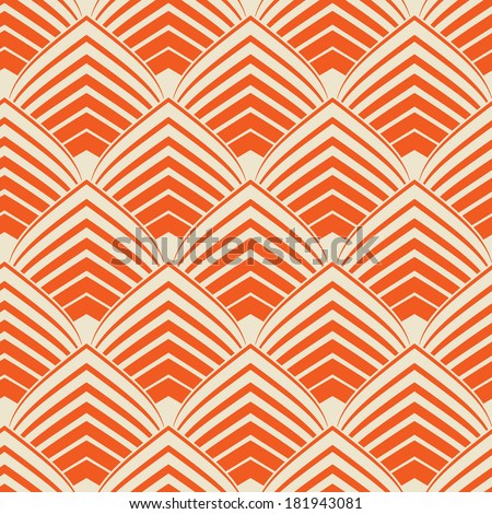 vintage art deco style seamless wallpaper - stock vector