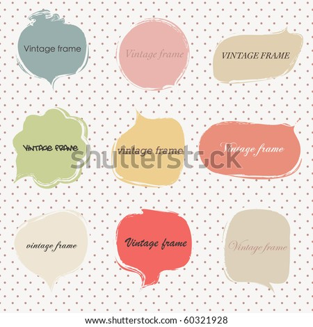 Vintage Autumn Frames - stock vector
