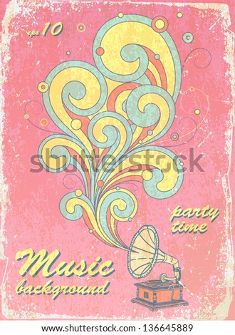 vintage background - stock vector