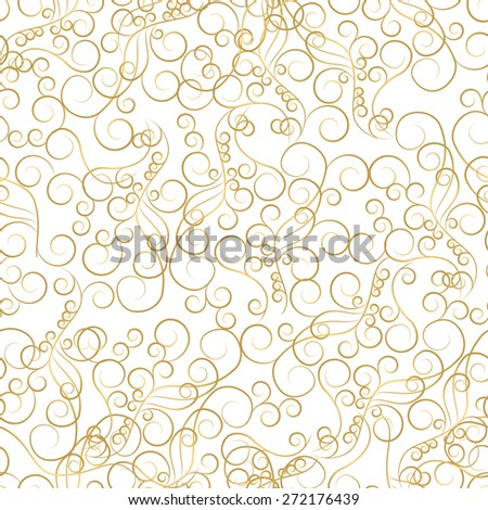 Vintage background, antique, victorian gold ornament, baroque frame, beautiful old paper, card, ornate cover page, label; floral luxury ornamental pattern template for design. EPS 10