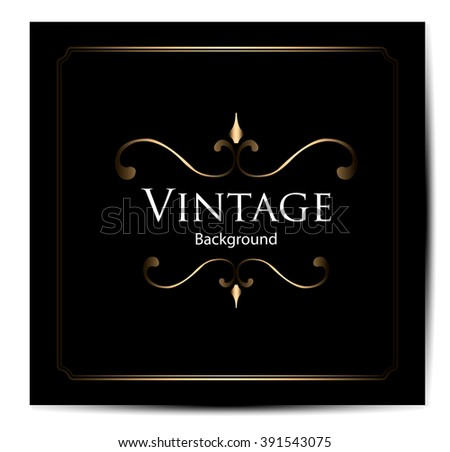 Vintage background, antique, victorian ornament, frame, card, ornate cover page, label; floral luxury ornamental pattern template for design - stock vector