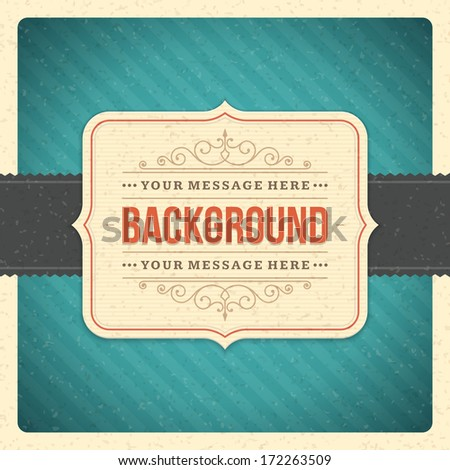 Vintage background design template. Retro card and place for text.