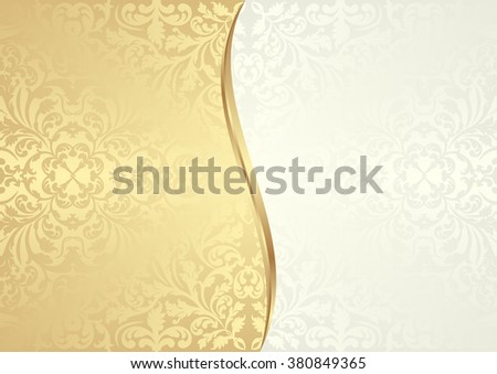 vintage background divided into two - stock vector