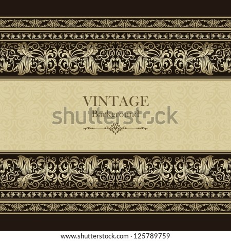 Vintage background, elegance antique, victorian silver, floral ornament, baroque frame, beautiful invitation, classical old style card, ornate page cover, royal luxury, ornamental pattern design - stock vector
