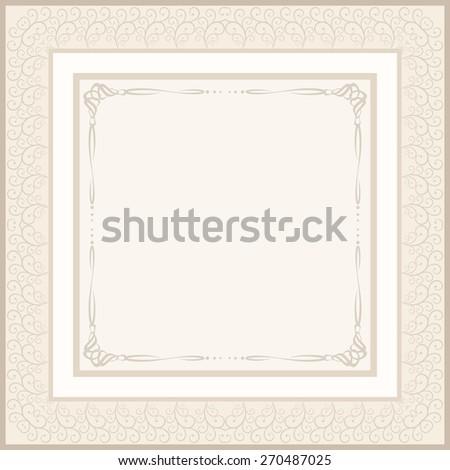 vintage background for invitation or etiquette - stock vector