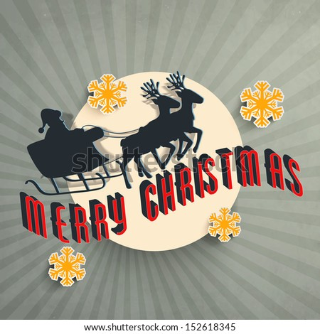Vintage background for Merry Christmas with Santa Claus for Merry Christmas. - stock vector
