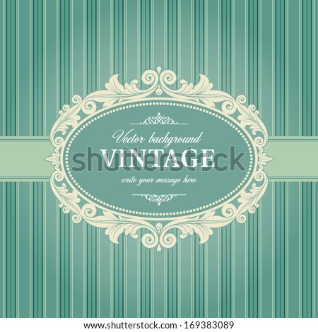 Vintage Background Frame Template Vector - stock vector