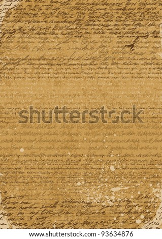 Vintage background of A4 format, based on ancient manuscripts - stock vector