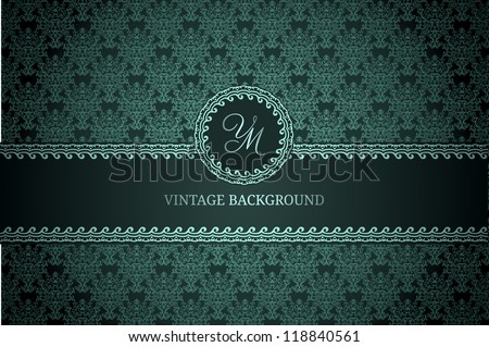 Vintage background on dark gradient background