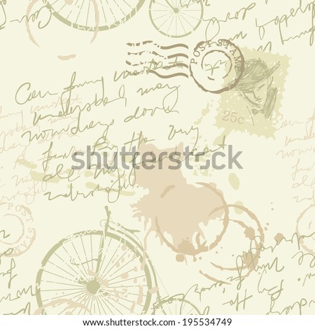 Vintage background or seamless pattern - stock vector