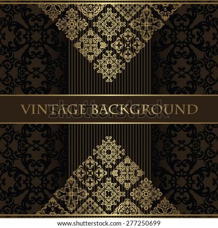 Vintage background. Original design. Beauty card, design elements       - stock vector