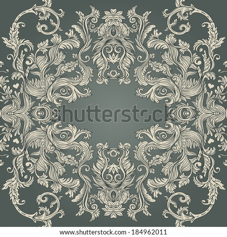 Vintage background ornate baroque pattern  - stock vector