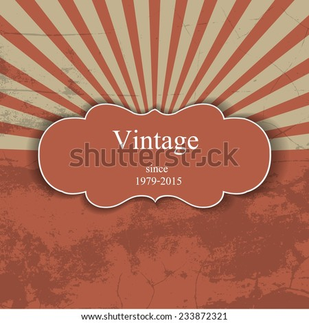 Vintage background  / retro background  Vintage background with stripe pattern - stock vector