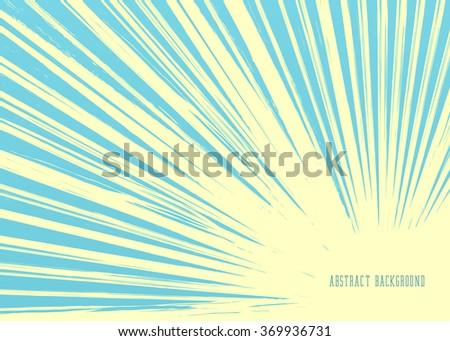 Vintage Background. Retro Sun Rays - stock vector