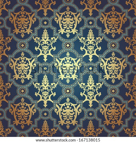 Pattern in mosaic ethnic style vector illustration stock vector